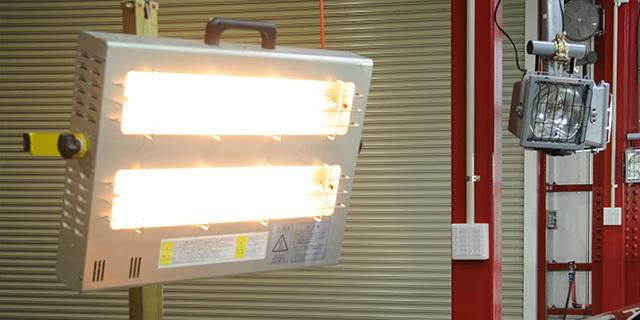 7,遠赤外線によるコーティング被膜の強制乾燥